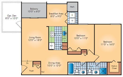2 Bedroom + Den, Washer/dryer, free parking!