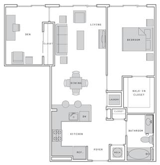 1 Bedroom plus Den