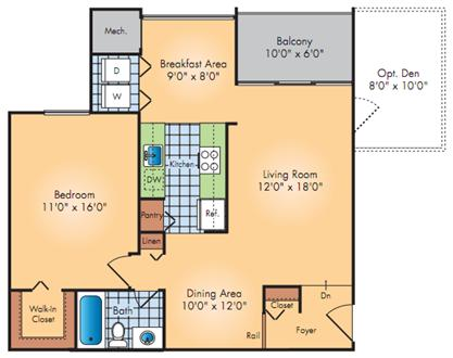1 Bedroom + Den, Washer/dryer, free parking!