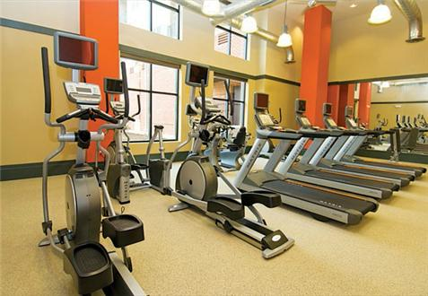 Fitness Center with cardio theater