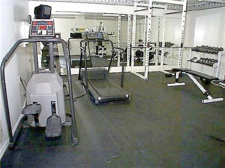 Gym with cardio equipment