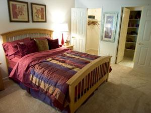 Large spacious bedrooms with lots of closet space