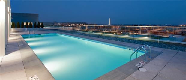 Rooftop Pool with amazing view of DC