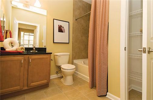 Bathroom and linen closet