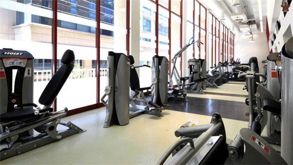 Health Club with cardio and weight training equipment