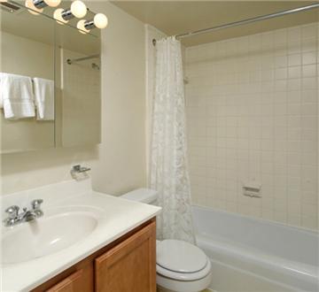 Bathroom with great lighting