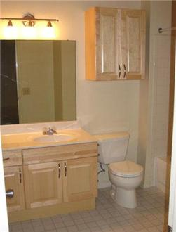 Renovated Large bathroom with plenty of cabinet space